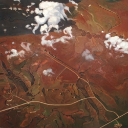 "Oil on canvas, 36 x 36"", 2008"