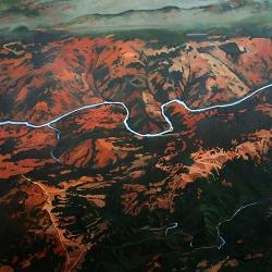 "oil on canvas, 48 x 48"", 2010"