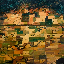 "oil on canvas, 48 x 48"", 2009"